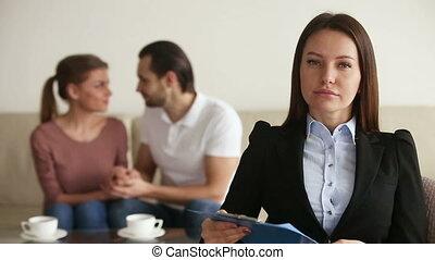 Portrait of professional relationship therapist