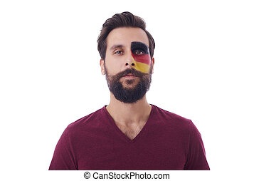 Portrait of proud german soccer man