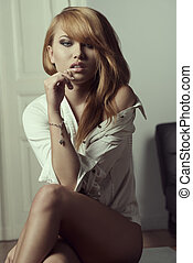 portrait of provocative girl