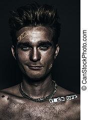 portrait of punk guy