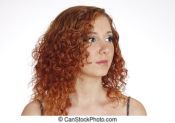 portrait of red-haired girl