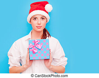 woman with gift box