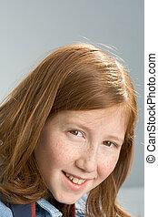 Portrait of redheaded girl