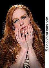 Portrait of Redheaded Woman