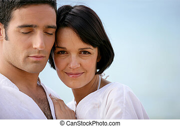 portrait of relaxed couple