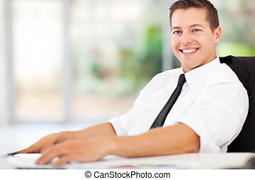 relaxed office worker