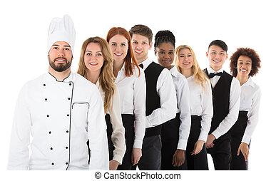 Portrait Of Restaurant Staff