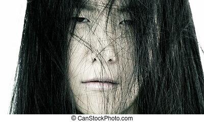 Portrait of sad asian woman