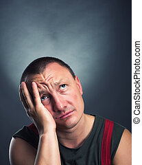 Portrait of sad man