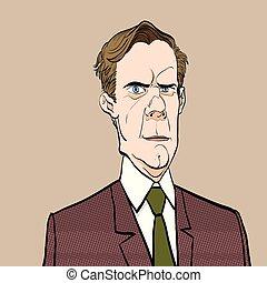 Portrait of sad man. Sadness. Surprised man. Concept idea of...