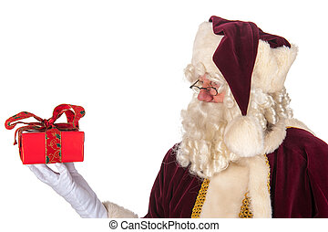 Santa Claus with present