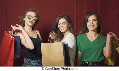 Portrait of Satisfied Buyers - Portrait of satisfied buyers,...
