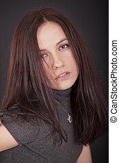 portrait of seductive woman - portrait of a woman in studio ...
