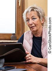 portrait of senior adult