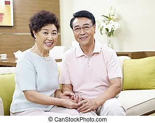 portrait of senior asian couple