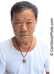 ?portrait of senior asian man