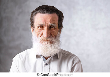 Portrait Of Senior Bearded Man