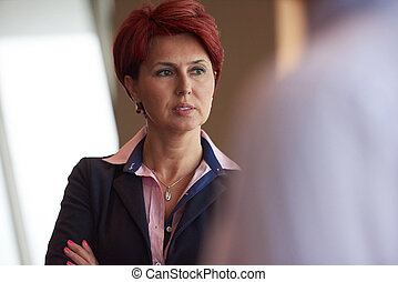portrait of senior business woman at office