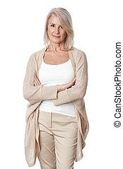 Portrait of senior business woman smiling