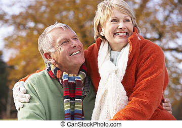 Portrait Of Senior Couple Hugging