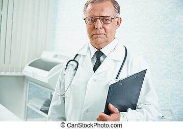 Portrait of senior doctor