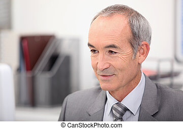 Portrait of senior executive