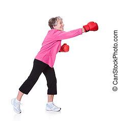 Portrait Of Senior Female Boxer