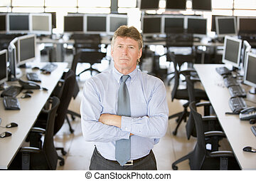 Portrait Of Senior Stock Trader