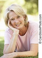 Portrait Of Senior Woman In Park
