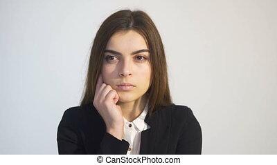 Portrait of Serious Businesswoman