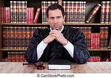 Portrait Of Serious Male Judge