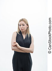 Portrait of serious young business woman
