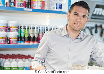 Portrait of shopkeeper