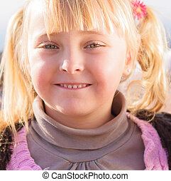 Portrait Of Small Blonde Girl