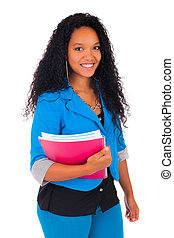 Portrait of smiling African American female student