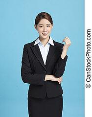 portrait of smiling asian business woman