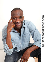 Portrait of smiling attractive man
