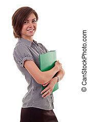 woman with folder