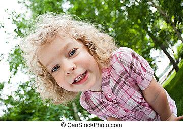 Portrait of smiling child