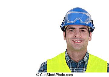 Portrait of smiling craftsman