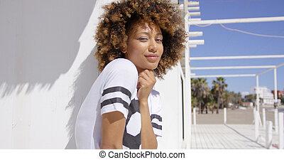 Portrait of smiling female