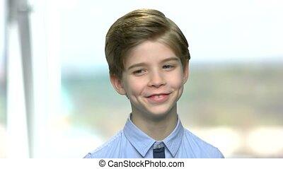 Portrait of smiling handsome little boy.