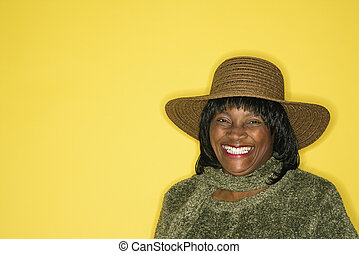 Portrait of smiling happy woman.