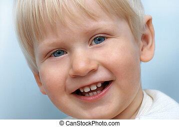 Portrait of smiling little child