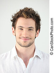 Portrait of smiling man, studio shot