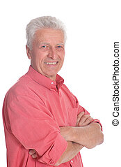 Portrait of smiling mature man with crossed arms - Smiling ...