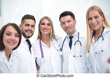 Portrait of smiling medical team