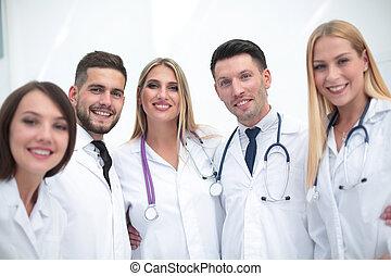 Portrait of smiling medical team
