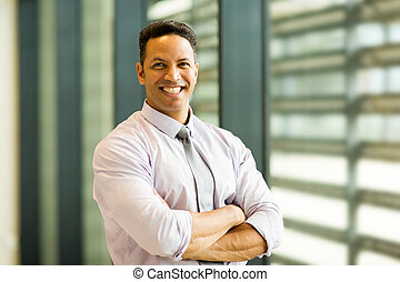 mid age businessman in office building