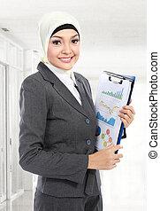 Muslim business woman